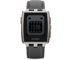 Pebble Steel Smartwatch Black