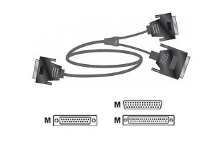Polycom 5' Serial Cable - 1 RS-449 and RS-366, HD-44M to 'Y' RS 499 (2457-10610-200)