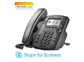 Polycom VVX 311 Skype for Business Microsoft Lync 6 Line VoIP Desktop Phone (2200-48350-019)