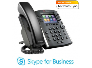 Polycom VVX 400 12-line Skype for Business Microsoft Lync multimedia IP phone