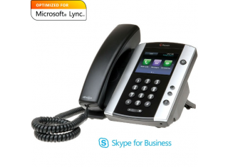 Polycom VVX 501 MS Lync Edition / Skype for Business VoIP Desktop Phone 2200-48500-019