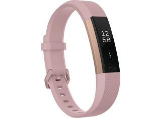 Fitbit - Alta HR Activity Tracker + Heart Rate-rose gold-Large