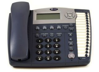 AT&T 945 4-LINE EXPANDABLE CORDED SMALL BUSINESS TELEPHONE - Titanium Blue