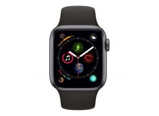 Apple Watch 40mm Series 4 Grey Aluminium Case with Black Sport Band (Cellular)
