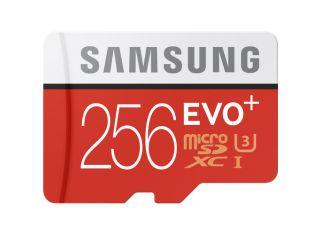 SAMSUNG EVO PLUS 256GB 100MB/S U3 MICROSDXC WITH ADAPTER