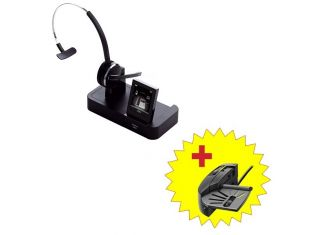 Jabra PRO 9470 Mono Deck Wireless headset for mobile, desk phone and PC calls + Handset Lifter
