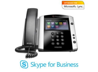 Polycom VVX 601 16-Line Premium IP Phone with Color Multi-Touch Display and HD Voice, Power Over Ethernet, Skype for Business (2200-48600-019)
