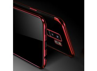 OEM Silicone Bumper Slim Clear Shockproof Protective Case for Samsung Note 9 S9 RED