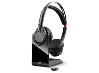 PLANTRONICS VOYAGER FOCUS UC BLUETOOTH USB B825 STEREO HEADSET WITH BASE