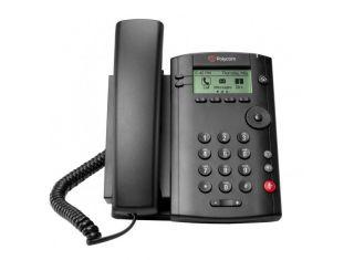 Polycom VVX 101 single line IP desk phone with PoE (2200-40250-025)